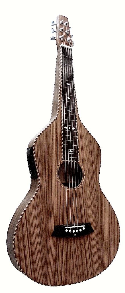 Zebrawood Weissenborn Style Bediaz with Rope Binding | 4-Band EQ
